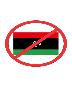 Drapeau: Anti NTC | Anti-flag of Kingdom of Libya |  portrait flag | 1.35m² | 140x100cm