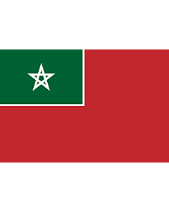 Flag: Merchant flag of Spanish Protectorate of Morocco  NOT the nacional |  landscape flag | 0.06m² | 0.65sqft | 20x30cm | 8x12in