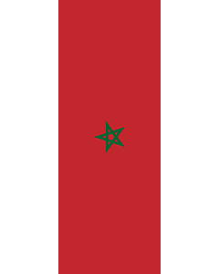 Vertical Hanging Swivel Crossbar Banner Flag: Morocco |  portrait flag | 6m² | 64sqft | 400x150cm | 13x5ft