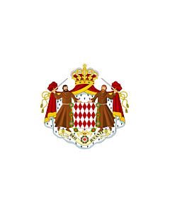 Flag: Monaco |  landscape flag | 0.375m² | 4sqft | 50x75cm | 1.5x2.5ft