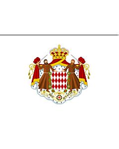 Flag: Monaco |  landscape flag | 6.7m² | 72sqft | 200x335cm | 6x11ft