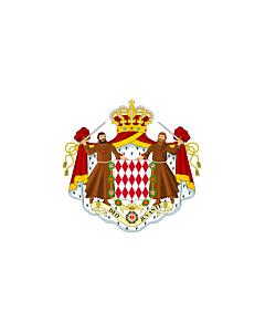 Indoor-Flag: Monaco 90x150cm