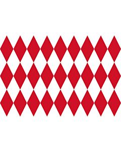 Flag: Monaco XIV-XVIII |  landscape flag | 1.35m² | 14.5sqft | 90x150cm | 3x5ft