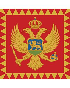 Flag: Standard of the President of Montenegro  on land |  1.35m² | 14.5sqft | 120x120cm | 45x45inch