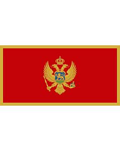 Flag: Montenegro |  landscape flag | 0.7m² | 7.5sqft | 60x120cm | 23x46inch