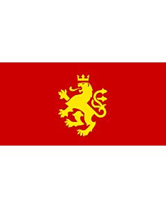 Drapeau: Macedonia - ethnic | Еthnic Macedonian lion | Етничко македонско знаме со лав |  drapeau paysage | 2.16m² | 100x200cm