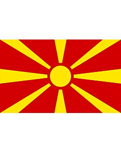 Drapeau de Table: Macédoine 15x25cm