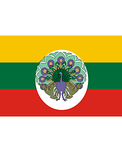 Flag: Burma  Myanmar , 1943-1945 |  landscape flag | 1.35m² | 14.5sqft | 90x150cm | 3x5ft