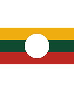 Flagge: XL Shan-Staates  |  Querformat Fahne | 2.16m² | 100x200cm