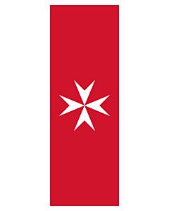 Flag: Malta |  portrait flag | 6m² | 64sqft | 400x150cm | 13x5ft