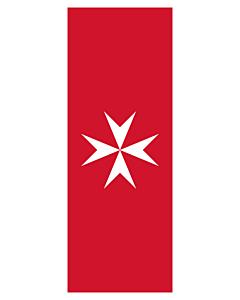 Ausleger-Flagge:  Malta  |  Hochformat Fahne | 3.5m² | 300x120cm