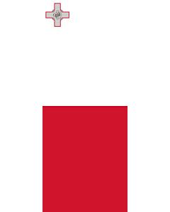 Vertical Hanging Beam Flag: Malta |  portrait flag | 3.5m² | 38sqft | 300x120cm | 10x4ft