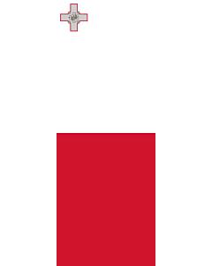 Ausleger-Flagge:  Malta  |  Hochformat Fahne | 6m² | 400x150cm