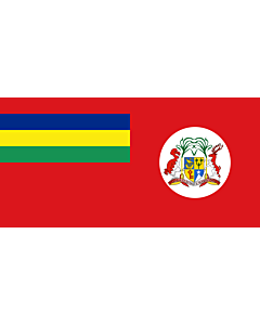 Bandera: Civil Ensign of Mauritius |  bandera paisaje | 1.35m² | 80x160cm