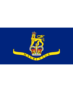 Flag: Governor General of Mauritius |  landscape flag | 1.35m² | 14.5sqft | 80x160cm | 30x60inch