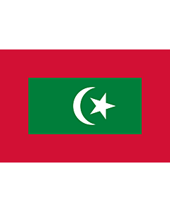 Flag: Presidential standard of the Maldives |  landscape flag | 0.06m² | 0.65sqft | 20x30cm | 8x12in
