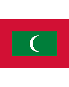 Flag: Maldives |  landscape flag | 0.7m² | 7.5sqft | 70x100cm | 2x3ft