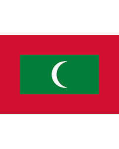 Flag: Maldives |  landscape flag | 1.5m² | 16sqft | 100x150cm | 3.5x5ft