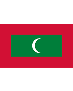 Flag: Maldives |  landscape flag | 6.7m² | 72sqft | 200x335cm | 6x11ft