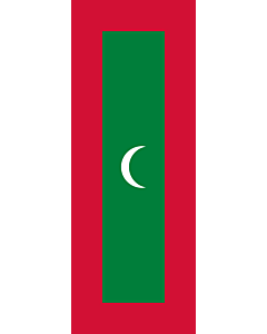 Flag: Maldives |  portrait flag | 6m² | 64sqft | 400x150cm | 13x5ft