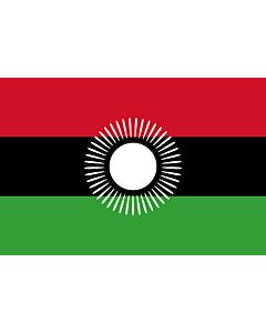 Flagge: XL Malawi  2010-2012  |  Querformat Fahne | 2.16m² | 120x180cm