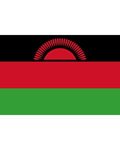 Flagge: XS Malawi  |  Querformat Fahne | 0.375m² | 50x75cm