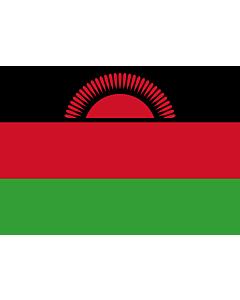 Flagge: Small Malawi  |  Querformat Fahne | 0.7m² | 70x100cm