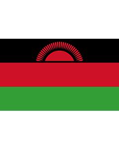 Flagge: XL+ Malawi  |  Querformat Fahne | 2.4m² | 120x200cm