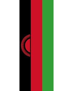 Flagge:  Malawi  |  Hochformat Fahne | 6m² | 400x150cm