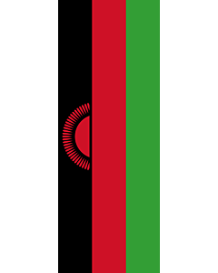 Vertical Hanging Swivel Crossbar Banner Flag: Malawi |  portrait flag | 6m² | 64sqft | 400x150cm | 13x5ft