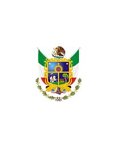Flagge: XXXL+ Querétaro  |  Querformat Fahne | 6.7m² | 200x335cm