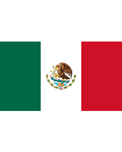 Indoor-Flag: Mexico 90x150cm