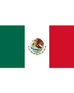 Flagge: Medium Mexiko  |  Querformat Fahne | 0.96m² | 80x120cm