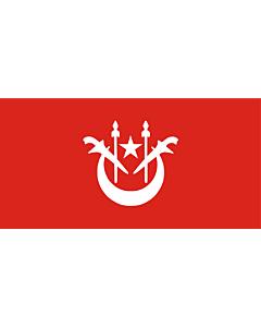 Flagge: XXS Kelantan  |  Querformat Fahne | 0.24m² | 35x70cm