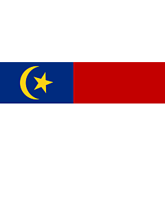 Flagge: XXS Malakka  |  Querformat Fahne | 0.24m² | 35x70cm