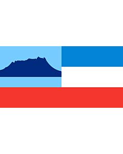 Tisch-Fahne / Tisch-Flagge: Sabah 15x25cm