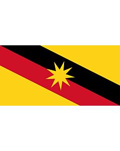Flagge: XXXL Sarawak  |  Querformat Fahne | 6m² | 170x340cm
