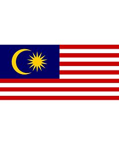 Flagge: XL Malaysia  |  Querformat Fahne | 2.16m² | 100x200cm