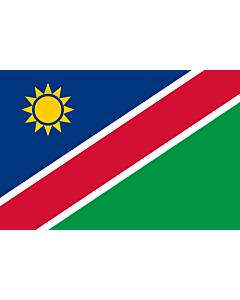 Flag: Namibia |  landscape flag | 0.375m² | 4sqft | 50x75cm | 1.5x2.5ft