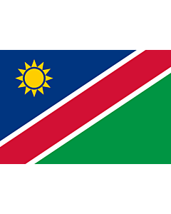 Flag: Namibia |  landscape flag | 0.96m² | 10sqft | 80x120cm | 2.5x4ft