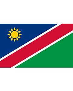 Flag: Namibia |  landscape flag | 1.35m² | 14.5sqft | 90x150cm | 3x5ft