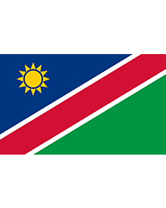 Flag: Namibia |  landscape flag | 6.7m² | 72sqft | 200x335cm | 6x11ft