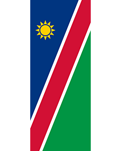 Vertical Hanging Beam Flag: Namibia |  portrait flag | 3.5m² | 38sqft | 300x120cm | 10x4ft