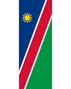 Vertical Hanging Beam Flag: Namibia |  portrait flag | 6m² | 64sqft | 400x150cm | 13x5ft