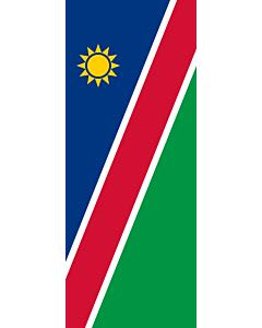 Vertical Hanging Swivel Crossbar Banner Flag: Namibia |  portrait flag | 3.5m² | 38sqft | 300x120cm | 10x4ft