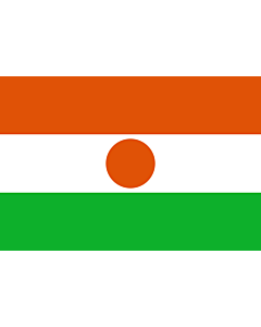 Flag: Niger |  landscape flag | 0.24m² | 2.5sqft | 40x60cm | 1.3x2foot