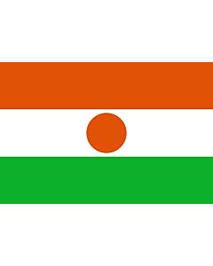 Flag: Niger |  landscape flag | 0.375m² | 4sqft | 50x75cm | 1.5x2.5ft