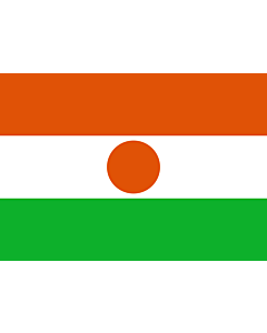 Flagge: Small Niger  |  Querformat Fahne | 0.7m² | 70x100cm