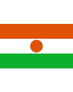 Flag: Niger |  landscape flag | 3.75m² | 40sqft | 150x250cm | 5x8ft