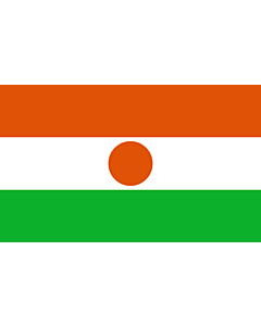 Flag: Niger |  landscape flag | 6.7m² | 72sqft | 200x335cm | 6x11ft